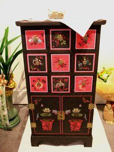 Korean Art, Painted Furniture, Paper Art, Advent Calendar, Antiques, Holiday Decor, Wood, Interior, Artist