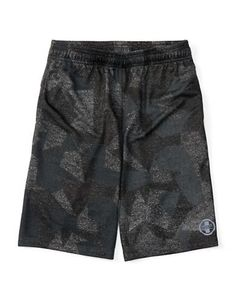 Ralph Lauren Childrenswear Boys 8-20 Patterned Athletic Shorts  Black
