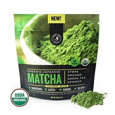 Matcha Green Tea Powder, Organic - Authentic Japanese Origin, Superior Quality Culinary Grade (Smoothies, Lattes, Baking, Recipes) - Antioxidants, Energy Boost - Jade Leaf Brand [30g Starter Size] * Want to know more, click on the image.-It is an affiliate link to Amazon.