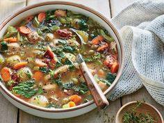 This soup is perfect for ushering in fall: It's hearty enough for the beginning of soup season, yet brothy and veggie-packed so that it doesn't feel too heavy. Pair it with a slaw or kale side salad and crusty whole-grain bread for a light, satisfying dinner. This recipe is ideal for a weekend, when you can check on the slow cooker after just a few hours; though you won't be able to leave the soup unattended all day, this still offers the benefit of hands-free, fuss-free cooking. Either baby…