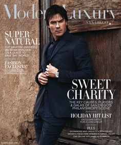 Ian Somerhalder - Modern Luxury's (November 2016)