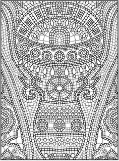Printable Kleuren Voor Volwassenen Coloriage Pour Adulte Anti Stress Welcome To Dover Publications Creative Haven Mosaic Masterpieces Coloring Book