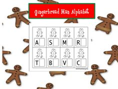 Gingerbread alphabet freebie