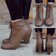 Tan Heeled Bootie | uoionline.com: Women's Clothing Boutique