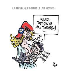 Jap (2016-07-29) France: Valls, lait, marianne. La phrase choc de Manuel Valls lors du meeting de rentrée de la gauche... http://lesdessinsdejap.20minutes-blogs.fr/archive/2016/08/30/la-phrase-choc-de-manuel-valls-lors-du-meeting-de-rentree-de-931175.html