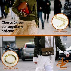 #Cierres únicos combinando #Argollas y #Cadenas. #ABCHerrajes #Marroquineria #Estilo #Diseño #Moda #Vanguardia. www.abcherrajes.com