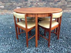 Stunning 1950s Retro Teak Dining Chairs Butterfly Style Can