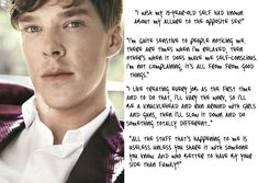 *Sigh* Love him - Benedict Cumberbatch Brainy Quotes, Quirky Quotes, Benedict And Martin, Love Him, My Love, Nerd Love, Self Conscious, Secret Love, Raining Men