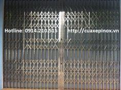 Cửa xếp INOX hộp 304