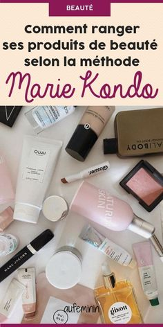 4 astuces de Marie Kondo pour bien ranger sa salle de bain, ses produits de beauté et son maquillage #mariekondo #konmari #methode #rangement #ranger #salledebain #organsiation #aufeminin