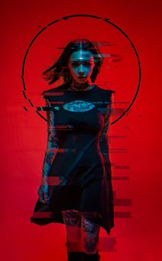 Neon Witch by Aku 悪 Model: Anna Batman on ArtStation Photo Oeil, Character Inspiration, Character Art, Character Concept, Art Cyberpunk, Poster Design, Glitch Art, Shadowrun, Dark Art