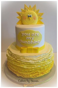 """""""You are my Sunshine"""" Baby Shower Cake Man that is one cheerful cake. If ever there was a cake solely intended to lift your spirits, this is it."""