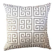 Patio Decor - Outdoor Decor - Outdoor Pillow Cover  Gray Greek Key by elisabethmichael, $35.00