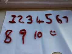 Learning numbers, play dough, fun, exciting