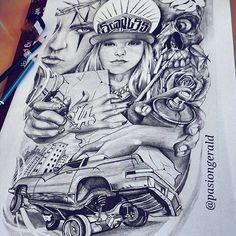 """SCANLSS"" 12x18  done ✏ Have a good day & night  #sketch#pencil#art #arte#design#bic #streets#LA#scanless #skull#tattoo#artfido #lettering#illustration #lowrider#city#ink #idea#graffiti#paint #cali#asia#PH"