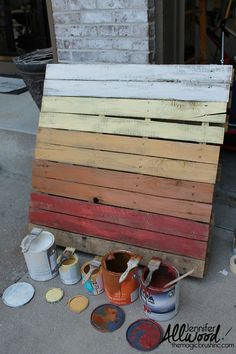 fall pallet project autumn colors