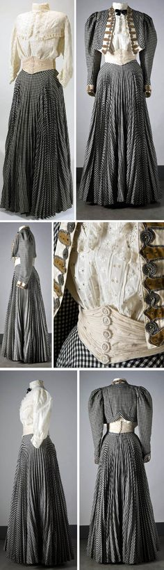 1906 Walking ensemble: Jacket, skirt, blouse, and cummerbund. Wool and cotton. Photos: Mats Landin. Via Nordic Museum, Sweden.
