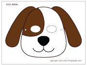 Colored dog mask 3
