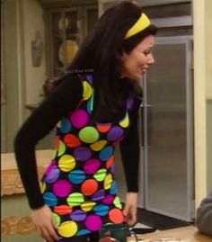 What Fran Wore: Moschino Dress 90s Fashion, Retro Fashion, Vintage Fashion, Fashion Outfits, Fran Fine The Nanny, Miss Fine, Fran Fine Outfits, Nanny Outfit, 90s Inspired Outfits