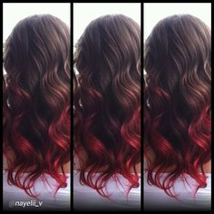 Ombre love with CHI Chromashine in CHI Red I could probably do this. My hair is shorter now...so don't know.