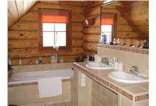 Log Homes Bathrooms Log Home Bathrooms, Log Homes, Timber Homes, Log Cabin Bathrooms, Log Cabin Homes, Log Home, Wood Houses, Log Houses