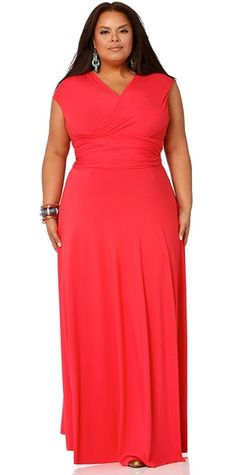 Orange plus size maxi dress Triple B s Pinterest