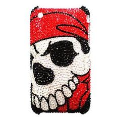 Swarovski Crystal iPhone 3G Case - Pirate's Plunder