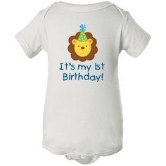 It's my 1st Birthday! Lion Zoo Birthday Value Infant Creeper White $10.99 www.inktastic.com