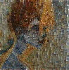 portrait, glass mozaic