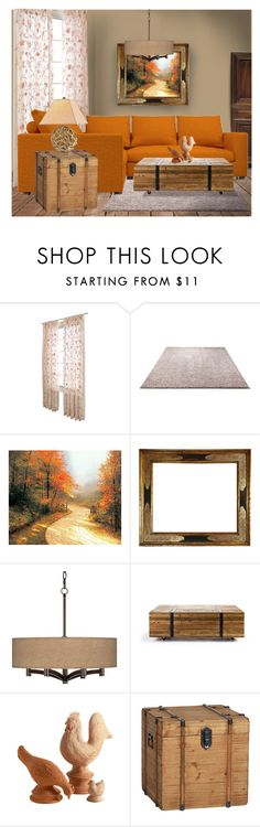 """""""Autumn Kinds of Beautiful - Home"""" by erina-i ❤ liked on Polyvore featuring interior, interiors, interior design, home, home decor, interior decorating, ESPRIT, Thomas Kinkade, Universal Lighting and Decor and Puji"""