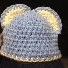 #crochet bear beanie for a baby
