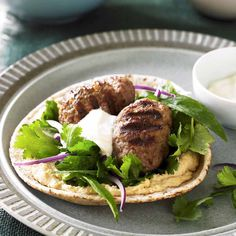 A healthier WW recipe for Lamb kofta wraps with hommos and herb salad ready in just Get the SmartPoints value plus browse other delicious recipes today! Ww Recipes, Dinner Recipes, Cooking Recipes, Healthy Recipes, Lamb Mince Recipes, Herb Salad, Fresh Coriander, Skinnytaste, Recipe Today