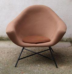 Geneviève Dangles; Easy Chair, 1950s.