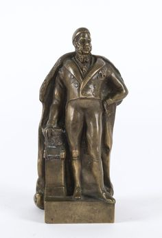 An English statue of Prince Alfred, cast bronze, late 19th century, 14.5cm high / MAD on Collections - Browse and find over 10,000 categories of collectables from around the world - antiques, stamps, coins, memorabilia, art, bottles, jewellery, furniture, medals, toys and more at madoncollections.com. Free to view - Free to Register - Visit today. #Bronze #DecorativeArts #MADonCollections #MADonC