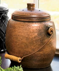 Look what I found on #zulily! Copper-Plated Compost Container #zulilyfinds