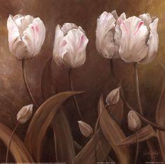 Wendy Darker Sepia Tulips II