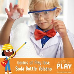 How to build a Soda Bottle Volcano : a fun DIY play activity for kids 4 years old and up! The Genius of Play