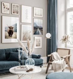 Gallery Wall Inspiration - Shop your Gallery Wall - Posterstore. New Living Room, My New Room, Home And Living, Living Spaces, Decor Room, Living Room Decor, Bedroom Decor, Home Decor, Wall Decor