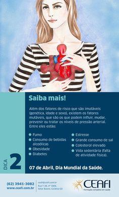 Comemorativo Dia Mundial da Saúde para o Ceafi Pós-Graduação, feita pela Aniz Design.