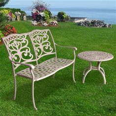 Ornamental Bench and Table -Exc pads