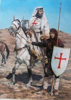Templars in the Jerusalem Crusades Medieval World, Medieval Knight, Medieval Armor, Medieval Fantasy, Knights Hospitaller, Knights Templar, Crusader Knight, Christian Warrior, Armadura Medieval