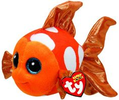Sami is an orange fish from the Ty Beanie Boos collection. Sami has big blue sparkly eyes. Order Your Beanie Boos online or by telephone. Beanie Boo Party, Beanie Babies, Ty Babies, Ty Animals, Plush Animals, Ty Beanie Boos Collection, Ty Peluche, Ty Toys, Watercolor Art