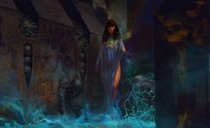 [Queenwalk Ver2 by ultracold]  She glided through the tomb, the tendrils of her presence forcing all the undead to their knees.  Queen of the Underworld, they said, and they were right.