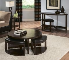 Bailey Cocktail Table With 4 Ottomans   Target $389.99 Perfect For Small  Spaces That Need More Seating Options! | Thereu0027s No Place Like Home |  Pinterest ...