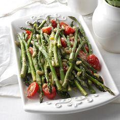 Tuscan-Style Roasted Asparagus Recipe | Taste of Home Recipes