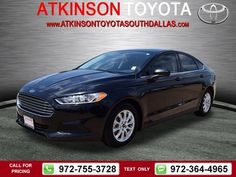2015 Ford Fusion S 12k miles $16,888 12036 miles 972-755-3728  #Ford #Fusion #used #cars #AtkinsonToyotaSouthDallas #SouthDallas #TX #tapcars