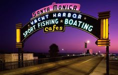 Entrance to the Santa Monica Pier.