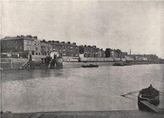 EAST HARTLEPOOL. Commissioners' Harbour. Durham, antique print 1895