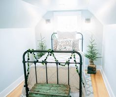In a small space like a bedroom, sticking to one color is a smart strategy.
