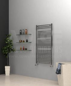 View technical details and pictures of ADIGE Wide High Chrome Flat Towel Radiator and purchase online for next business day delivery! Kitchen Utensils Store, Porch Storage, Ikea, Towel Radiator, Designer Radiator, Towel Warmer, Heated Towel Rail, Wood Cabinets